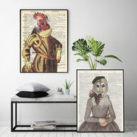 Old Dictionary Collection - Owl Animal Art Print - Rock Salt Prints Ltd