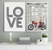 Pin Up Stormtrooper on Red Bike Star Wars Art Print - Rock Salt Prints Ltd