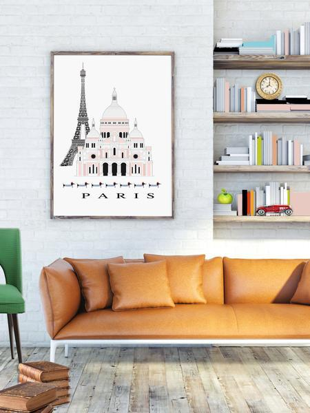 Paris Classic City Print - Rock Salt Prints Ltd