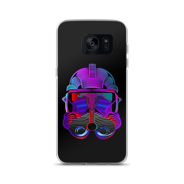 Neon Trooper Helmet Samsung Case - Rock Salt Prints Ltd