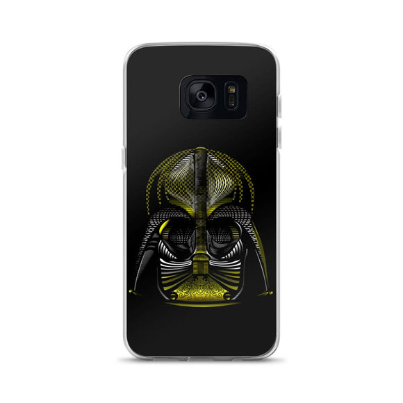 Neon Dart Vader Helmet Samsung Case - Rock Salt Prints Ltd