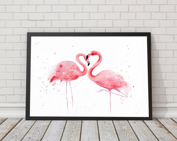 Pink Flamingos Home Decor Art Print - Rock Salt Prints Ltd