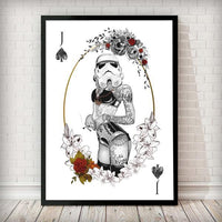 Poker Force Collection - Stormtrooper White - Star Wars Inspired Art Print - Rock Salt Prints Ltd