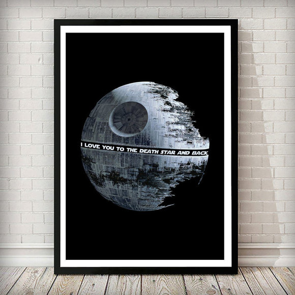 Star Wars - I love you to the Death Star and back Art Print - Rock Salt Prints