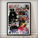 Rock and Roll Butterflies Pop Graffiti Art Print - Rock Salt Prints
