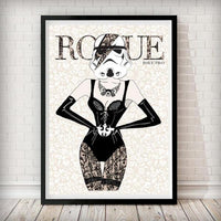 Moulin Rogue Two - Stormtrooper Star Wars Art Print - Rock Salt Prints Ltd
