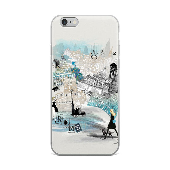 Rome Retro City iPhone Case - Rock Salt Prints Ltd