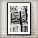 Rue Cambon Street Sign Fashion Poster Art Print - Rock Salt Prints Ltd