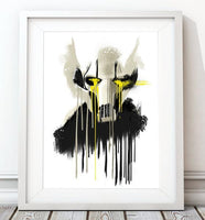 Dripping Star Wars Poster, General Grievous Art Print - Rock Salt Prints