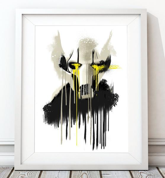 Dripping Star Wars Poster, General Grievous Art Print - Rock Salt Prints Ltd