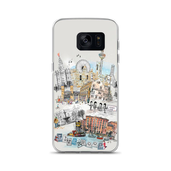 Liverpool Retro City Samsung Phone Case - Rock Salt Prints Ltd