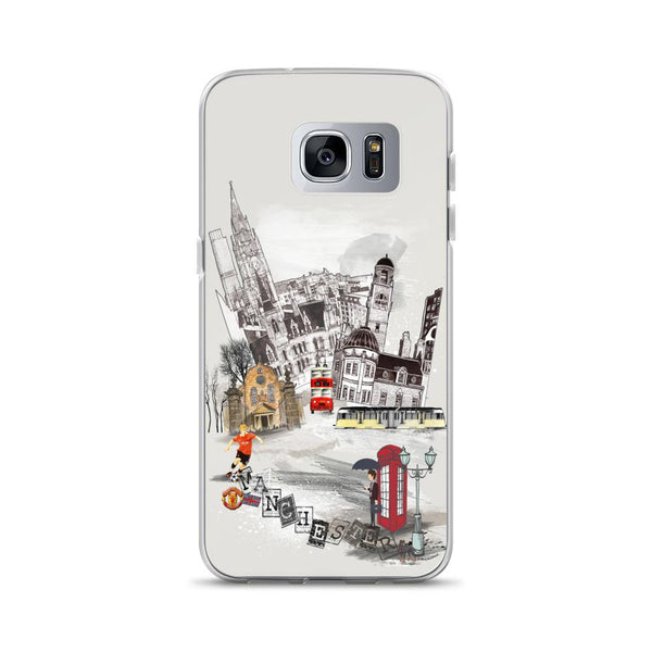 Manchester Retro City Samsung Phone Case - Rock Salt Prints Ltd