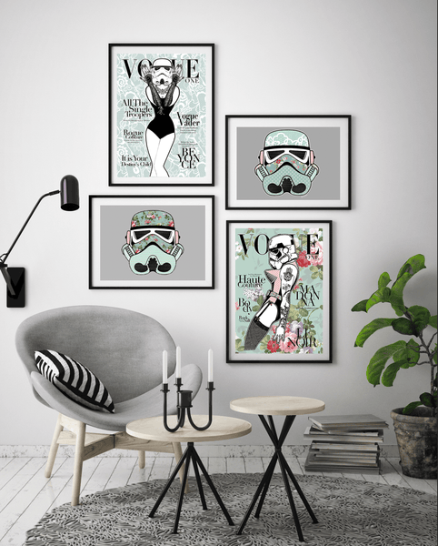 Vintage Floral Star Wars Gallery Wall - Rock Salt Prints Ltd