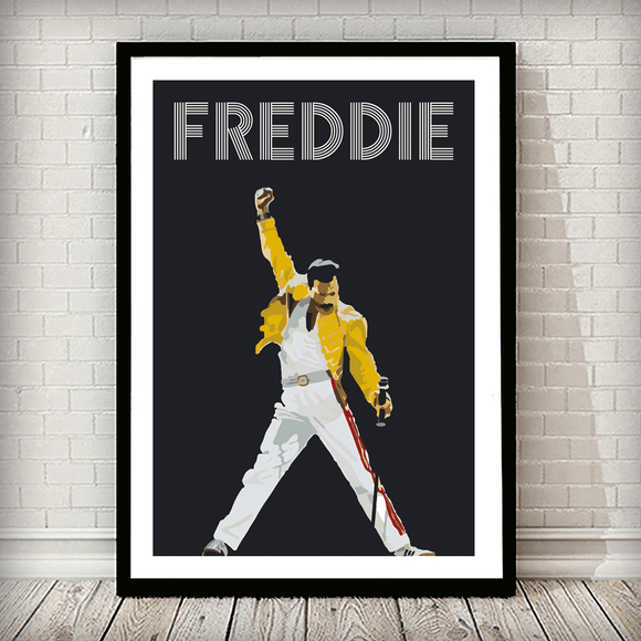 Freddie Mercury Music Typography Poster - Rock Salt Prints Ltd