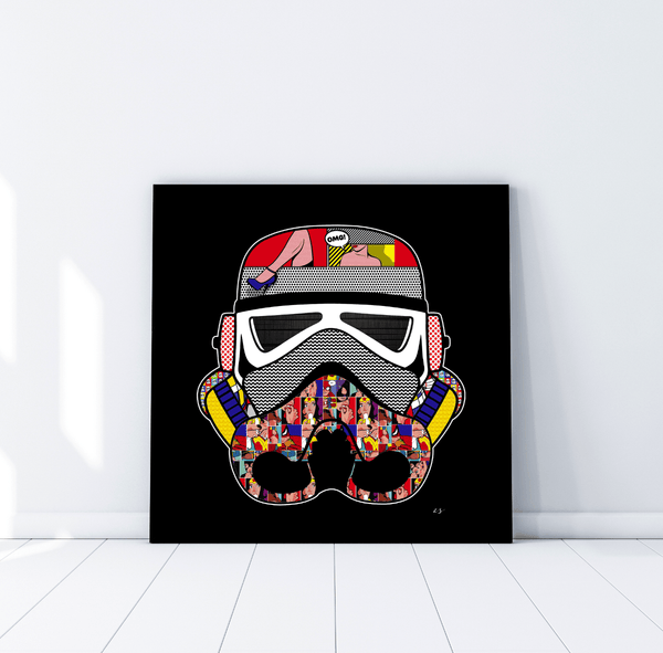 Limited Edition Stormtrooper Pop Art Helmet - Rock Salt Prints