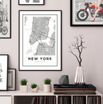 New York City Map Art Print - Rock Salt Prints Ltd