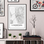 Liverpool City Map Art Print - Rock Salt Prints Ltd