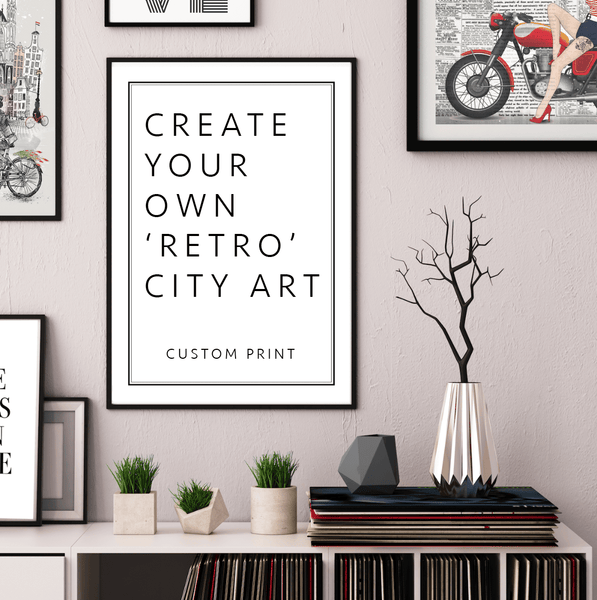 *Custom Retro City Art Print - Rock Salt Prints