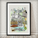 Dublin Retro City Print - Rock Salt Prints Ltd