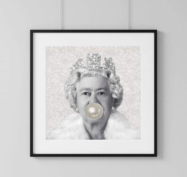 Queen Bubble Gum - Rock Salt Prints Ltd