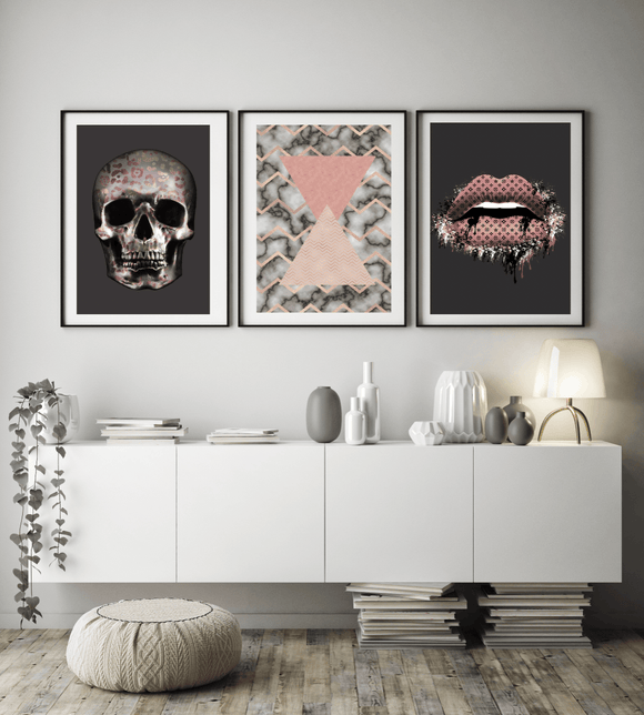 ABSTRACT POP GALLERY WALL TRIO 027 - Rock Salt Prints
