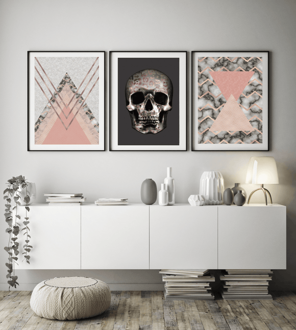 ABSTRACT POP GALLERY WALL TRIO 028 - Rock Salt Prints