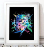 Crayon Stormtrooper Poster in Blue - Star Wars Inspired Art Print - Rock Salt Prints Ltd