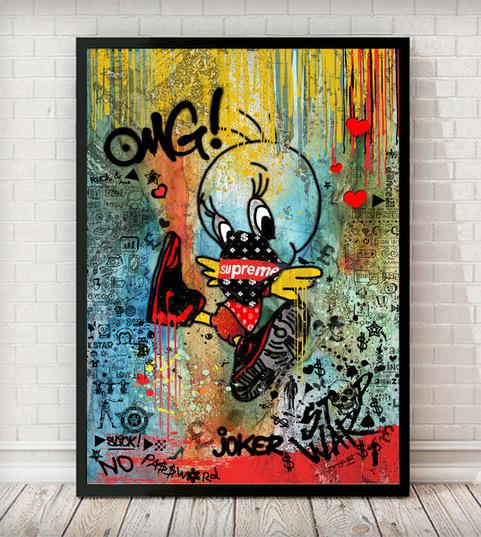 Cartoon 006 Print Graffiti Pop Art - Rock Salt Prints Ltd
