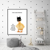 WOODLAND NURSERY - I'M NOT BATMAN DUCK ART PRINT - Rock Salt Prints Ltd