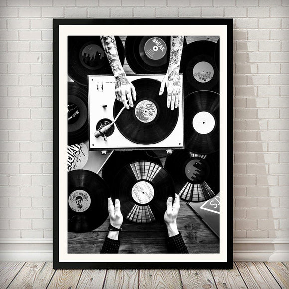 Which Record Next Music Black and White Art Print - Rock Salt Prints Ltd