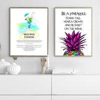Be a Pineapple - Typography Art Print - Rock Salt Prints Ltd
