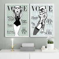 VOGUE Cover - Stormtrooper Beyonce Duck Egg Lace Star Wars Art Print - Rock Salt Prints Ltd