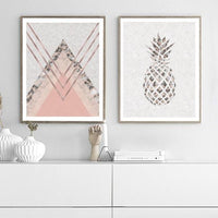 Pineapple Marble Abstract Home Decor Art Print - Rock Salt Prints Ltd