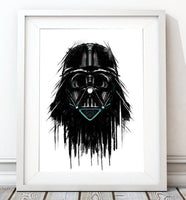 Dripping Star Wars Poster, Darth Vader Art Print - Rock Salt Prints Ltd