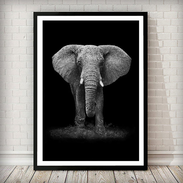 Elephant Confetti Animal Art Print - Rock Salt Prints Ltd