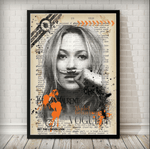 Kate Moss Vintage Poster Art Print - Rock Salt Prints Ltd