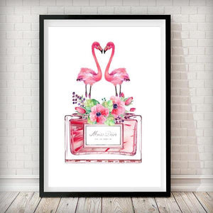 Perfume Bottle Fashion Art Print - in white - Rock Salt Prints Ltd