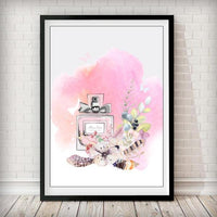 Miss Dior Flower Perfume Bottle Fashion Art Print - Rock Salt Prints Ltd