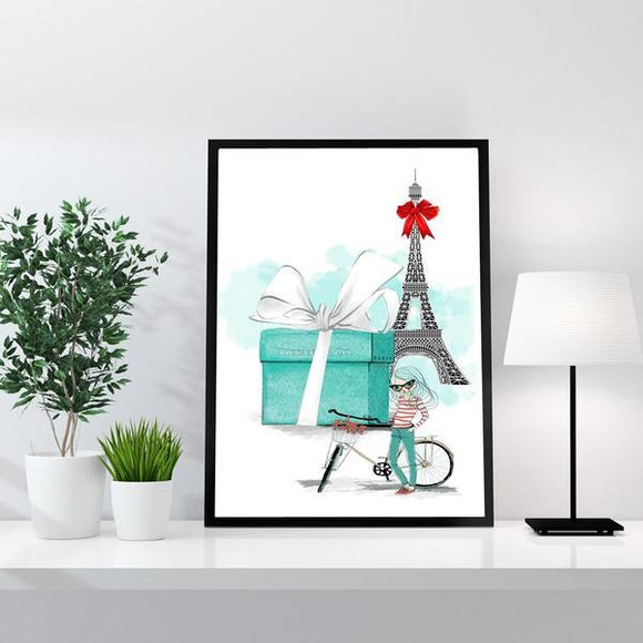 Paris / Designer Gift Box Fashion Art Print - Rock Salt Prints
