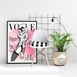 VOGUE Cover - Stormtrooper Madonna Pink Watercolor Star Wars Art Print - Rock Salt Prints Ltd