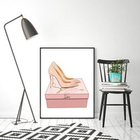CL Beige Fashion Art Print - Rock Salt Prints Ltd
