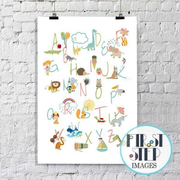 Nursery Alphabet Art Print - Rock Salt Prints Ltd