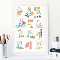 Nursery Numbers Art Print - Rock Salt Prints Ltd