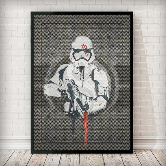 Finn, designation number FN-2187 - Stormtrooper Art Print Regular price - Rock Salt Prints Ltd