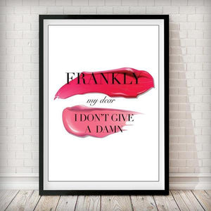 Frankly My Dear I Don't Give a Damn - Pink Fashion Art Print - Rock Salt Prints