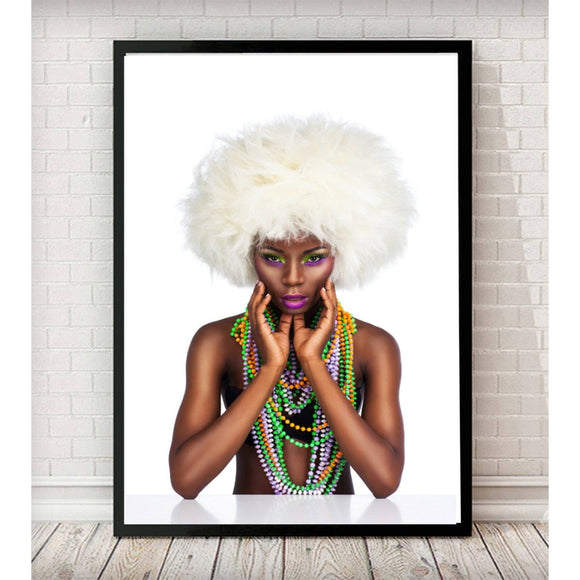 Colourful Beads Fashion Photography Art Print - Rock Salt Prints Ltd