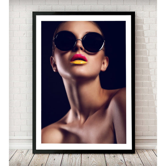 Summer Lips Fashion Art Print - Rock Salt Prints Ltd