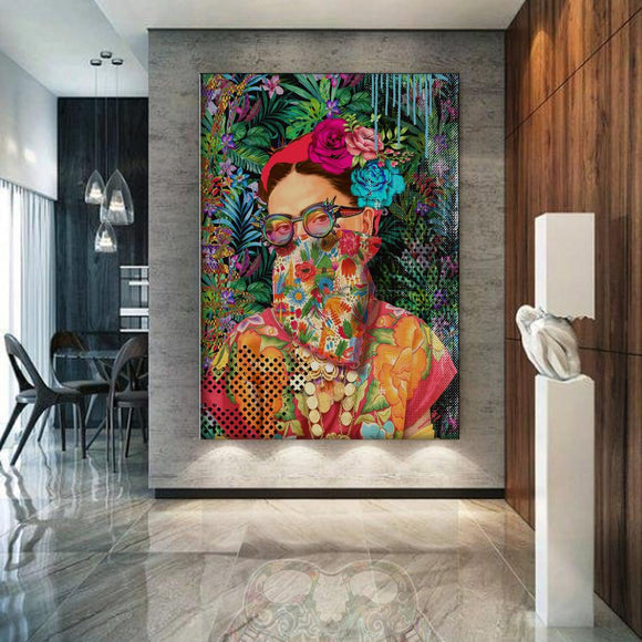 Frida Kahlo Pop Tropical Graffiti Iconic Fashion Art Print