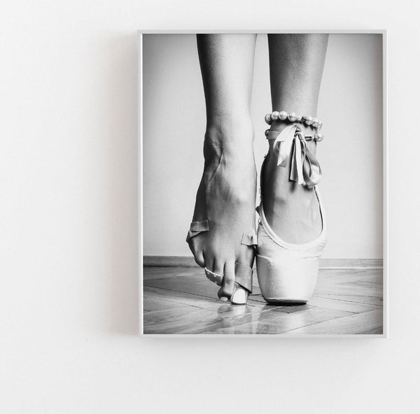 Ballerina Monochrome Fashion Art Poster - Rock Salt Prints