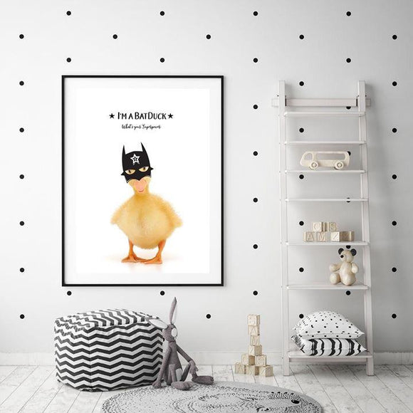 WOODLAND NURSERY - I'M A BAT DUCK ART PRINT - Rock Salt Prints Ltd